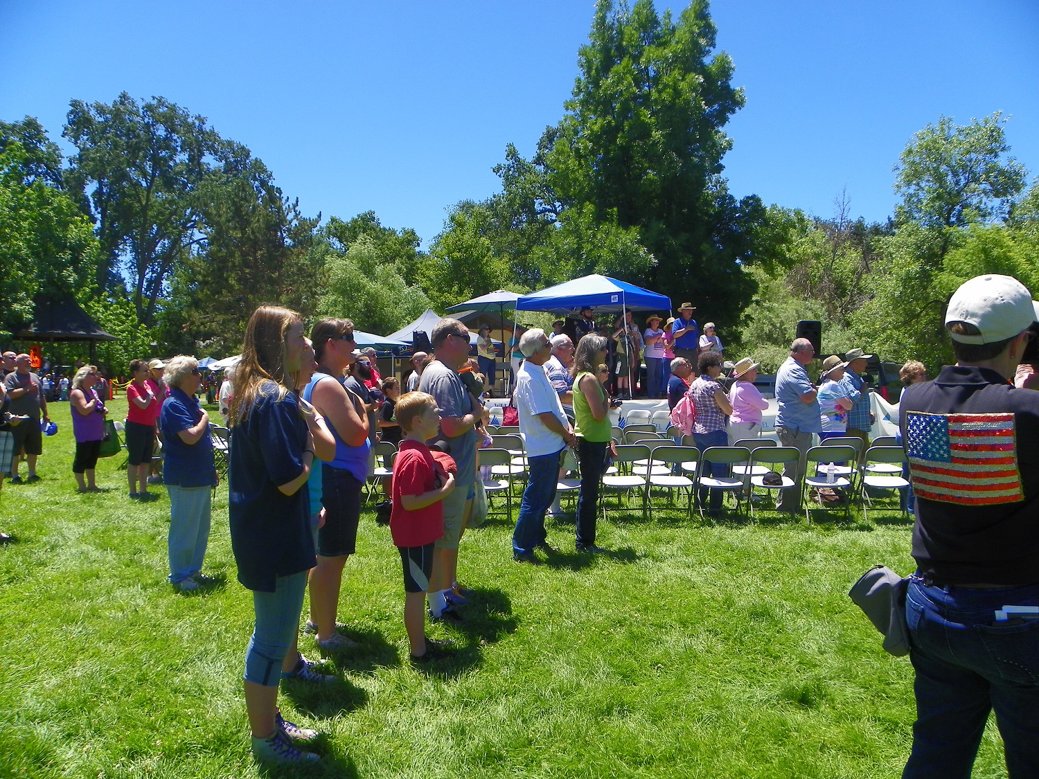 Yos Fest guests honor the country - photo by Kellie Flanagan