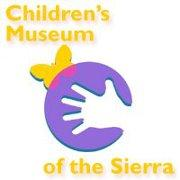 childrens museum hand with butterfly logo