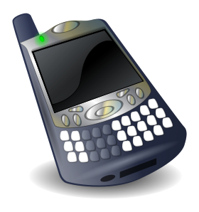 Cell phone - open clip art library - Wiki commons 2013