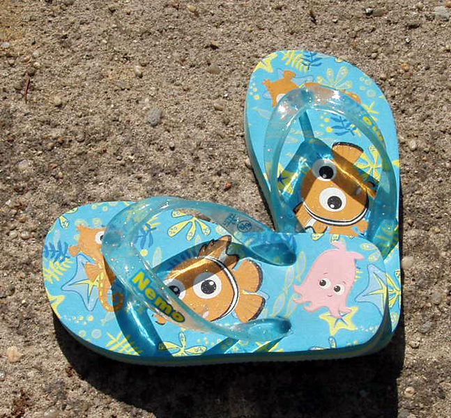 Flip Flops - public domain image photographed by Michael Luci - Wiki commons - attribution requested