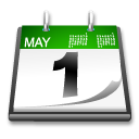 May 1 calendar image - Public Domain - Wiki commons 2013