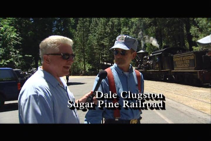 Huell Howser and Dale Clugston at the Sugar Pine Railroad