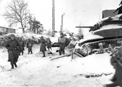Similar to conditions under which Sarge fought, the 117th Infantry North Carolina NG at St. Vith 1945 - Wikipedia Battle of the Bulge
