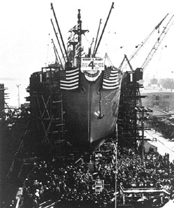 Liberty ship SS Robert E. Peary Photo courtesy of the Richmond Museum of History Collection/USPS