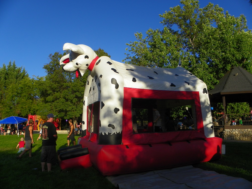 Community Park Sept 2013 - Liberty Party Rentals in CoarsegoldBounce House - Photo by Kellie Flanagan